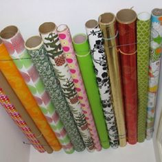 Clever Ideas: Gift Wrap Storage Inside Closet Or Cupboard Ceiling. Look Up!  Use Wire To Make A Space To Store Gift Wrap Rolls Against The Ceiling, ...