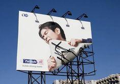 Tooth paste advertising