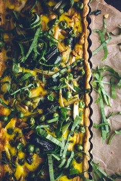 loaded spring vegetable quiche