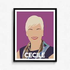 Cecile Richards Feminist Poster Feminist Art Wall by TheFilmArtist