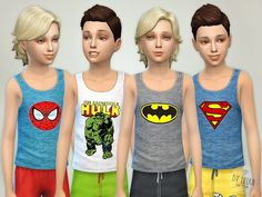 My Comic Heroes - Top Found in TSR Category 'Sims 4 Male Child Everyday'