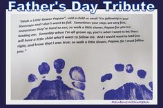 Father's Day Poem for footprints,