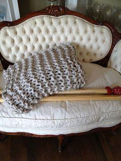 Blanket Knitting in the GIANT by Go-Girl Knitting. $200.00, via Etsy.