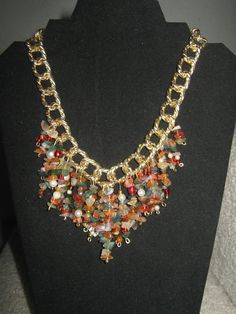 Collar en cornalina y agata musgo https://www.facebook.com/pages/Elys-Creations/398154730213844?ref=hl