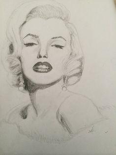 Marilyn Monroe Black-White Drawing by PelinMerve on DeviantArt