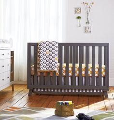 Modern nursery - gray & yellow LOVE that blanket :)
