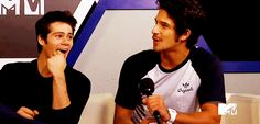 Dylan O'Brien and Tyler Posey *gif*
