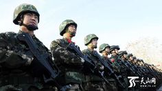 2/17/17 Massive show of force staged in China's Xinjiang region after terrorist attack Thousands of paramilitary police take part in parade in Hotan after eight people were killed during a knife attack earlier this week