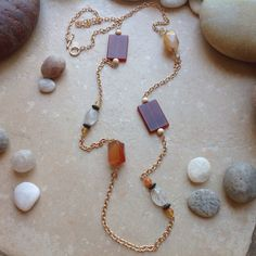 Bronze and Carnelian Necklace