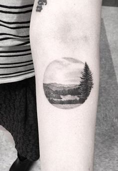 by Dr woo  tattoo / landscape                                                                                                                                                                                 More #LandscapeTattoo