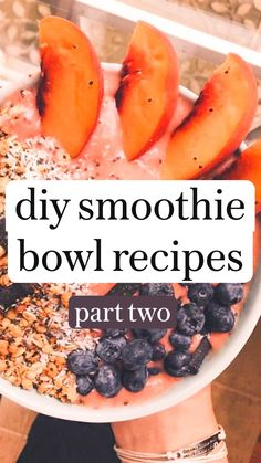 Smoothie Bowl, Fruit Smoothie Recipes, Healthy Smoothies, Healthy Drinks, Easy Healthy Snacks, Easy Healthy Desserts, Yummy Healthy Snacks, Margarita Recipes, Healthy Fruits