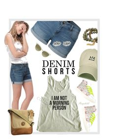 """The Final Cut: Denim Shorts"" by ragnh-mjos ❤ liked on Polyvore featuring AG Adriano Goldschmied, LE3NO, Gucci, Dee Berkley and Edge Only"