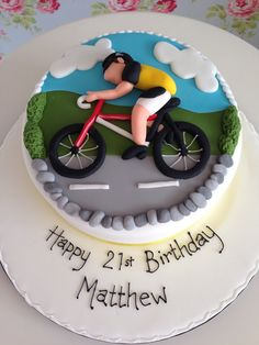 30 Best Picture of Bicycle Birthday Cake Birthday Cake Video, Birthday Cake Pictures, Adult Birthday Cakes, Themed Birthday Cakes, Themed Cakes, Bicycle Cake, Bike Cakes, Mountain Bike Cake, Dance Cakes