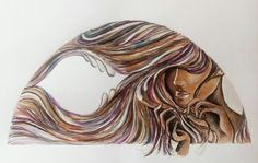 Woman hair painting