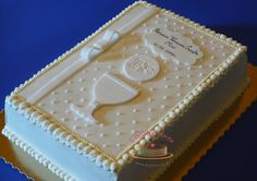 Boy Communion Cake, Christian Cakes, Bible Cake, Smooth Icing, Rectangle Cake, Religious Cakes, Confirmation Cakes, 60th Birthday Cakes, Book Cakes