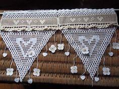 rideau au crochet katys charme Crochet Curtains, Textiles, Crochet Bikini, Creations, Etsy, Vintage, Lace, Fabric, Fun