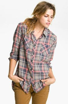 Free People 'Park Ranger' Plaid Shirt