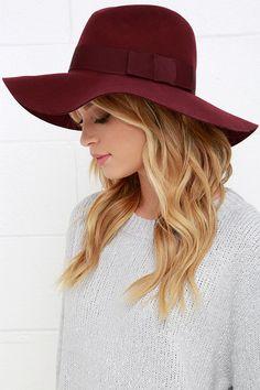Brixton Piper Burgundy Hat at Lulus.com!