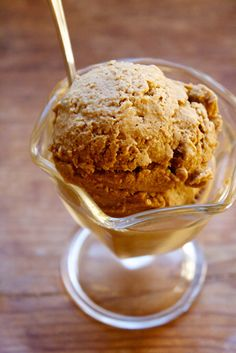 Sweet Potato Ice Cream with Candied Ginger