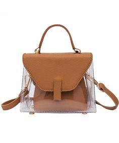 Summer Jelly Clear Handbag 2 in 1 Tote Transparent Shoulder Bag - Brown -  C91883ENLD4. Alibaba GroupClear HandbagsLuxury DesignerShopping TotesCross  Body ... ff9ce7356ae53