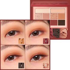 [moonshot] reve de Paris Eyeshadow Palette K-beauty Korean Makeup Tips, Asian Eye Makeup, Natural Eye Makeup, Cute Makeup, Beauty Makeup, Ulzzang Makeup, Korea Makeup, Makeup Books, Makeup Essentials