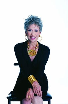 """Rita Moreno - way to rock the """"blue hair""""! when i am her age, i hope to be as fab!"""