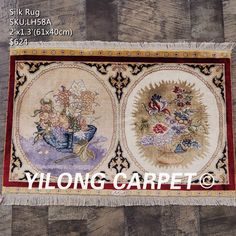 Art decor tapestry 100%hand-knotted material:silk please contact email:office@yilongcarpet.com get more informational Floral Area Rugs, Persian Rug, Home Textile, Art Decor, Vintage World Maps, Oriental, Silk Rugs, Contact Email, Carpet