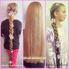Rapunzel Hair Tutorial from BabesInHairland.com Take long (or short) hair to longer hair with this great Halloween hair tutorial.