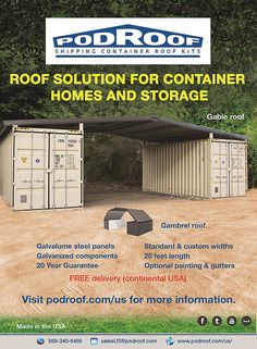 podroof-shipping-comtainer-roofing-home-design #containerhome #shippingcontainer