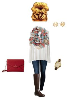 """""""Fall"""" by nycityprincess ❤ liked on Polyvore featuring THVM, T By Alexander Wang, Office, Kate Spade, Aerie, Michael Kors and Alex and Ani"""