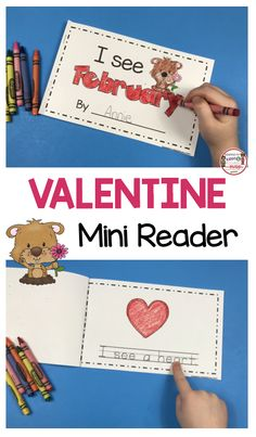 EMERGENT READER for Valentine's Day - kindergarten mini reader for February - Practice sight words and tracing sentences - Valentines Day Literacy Center - No Prep printables for Valentines Day FREEBIES - print FREE worksheets for Pre-K and first grade Kindergarten Literacy, Preschool Activities, Valentines Writing Kindergarten, Writing Activities, Reading Intervention Activities, Reading Groups, Guided Reading, Free Reading, Reading Fluency