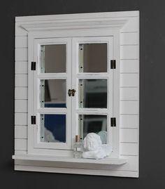 Lustro okiennica, kolor biały.