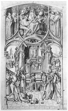 Hans Holbein – S. Paolo fuori le mura – Basilica Cycle 5 – preparatory drawing for the middle panel