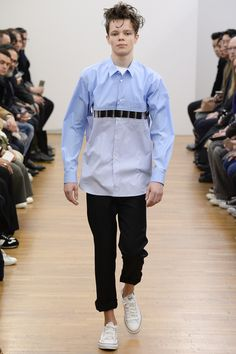 interesting shirt construction | Comme des Garçons Shirt Fall 2016 Menswear Fashion Show