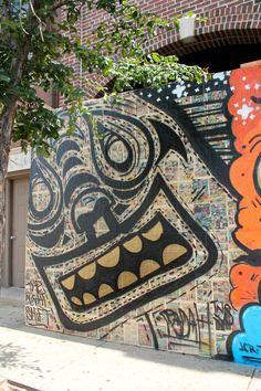 Radah  New street art up right by Galerie F for upcoming restaurant The Radler!  #streetart #chicagoart #radah #theradler