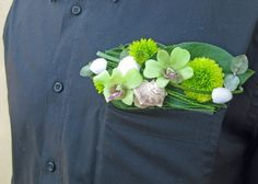 a pocket square instead of a traditional boutonniere! floral design by jacqueline ahne