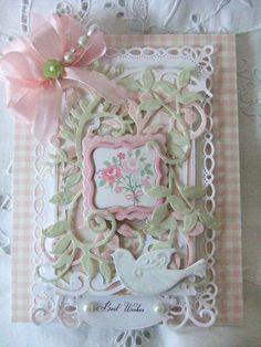 vintage lady fancy edge with decoupage on Craftsuprint designed by ...