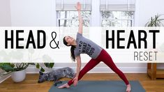 Head & Heart Reset - Yoga With Adriene - 24 min Bikram Yoga, Yin Yoga, Namaste Yoga, Pilates Yoga, Iyengar Yoga, Pilates Reformer, Ashtanga Yoga, Vinyasa Yoga, Yoga Videos