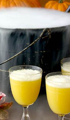 Spritely Ghost Punch - It bubbles and fumes like a witch's brew, but it's tastier than a fresh shot of sunshine.
