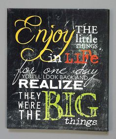 Loving this 'Little Things' Wall Art on #zulily! #zulilyfinds