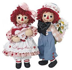 Raggedy Ann & Andy Sweet Valentines Dolls by Danbury Mint