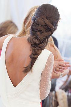 Unique braid hairstyle