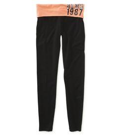 Aero 1987 Zebra Knit Yoga Pants - Aeropostale