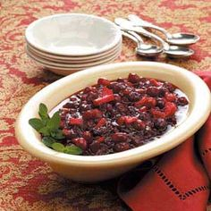 Taste of Home                        Cranberry Sauce Recipes                     -                                                   Dress up dinner, dessert and more with these rich cranberry sauce recipes, including salsa, dip, ketchup, chutney, relish, mustard, hoisin sauce, saute, compote and more.