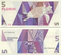 Aruba's Florin geometric bill. Very unique modern approach to Banknote solution. This design is also one of my favorite approaches