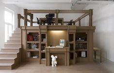 Arredo leggero con i mobili di cartone - Homidoo http://www.homidoo.it/arredo-leggero-con-i-mobili-di-cartone/ arredare casa, mobili in cartone, mobili di cartone, arredo di cartone, sedia di cartone