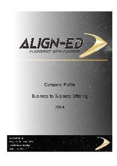 Align-Ed Company Profile | FlipHTML5
