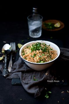 Hot and Sweet Ginger Scallion Fried Rice @Reem   Simply Reem