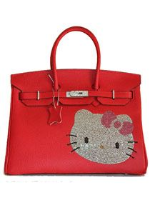 Hermes Birkin Hello Kitty 35CM Togo Leather Bag Red HK0001 Quality  Grade  AAA+++ Super Replica 63fbfb9fe83c8