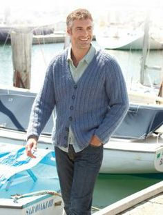 Casually dressed vest for men, knitted in Schachenmayr original Silenzio.